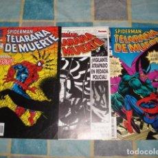 Cómics: SPIDERMAN: TELARAÑA DE MUERTE, 1995, SERIE COMPLETA, 3 NÚMEROS, FORUM, MUY BUEN ESTADO. Lote 105147051