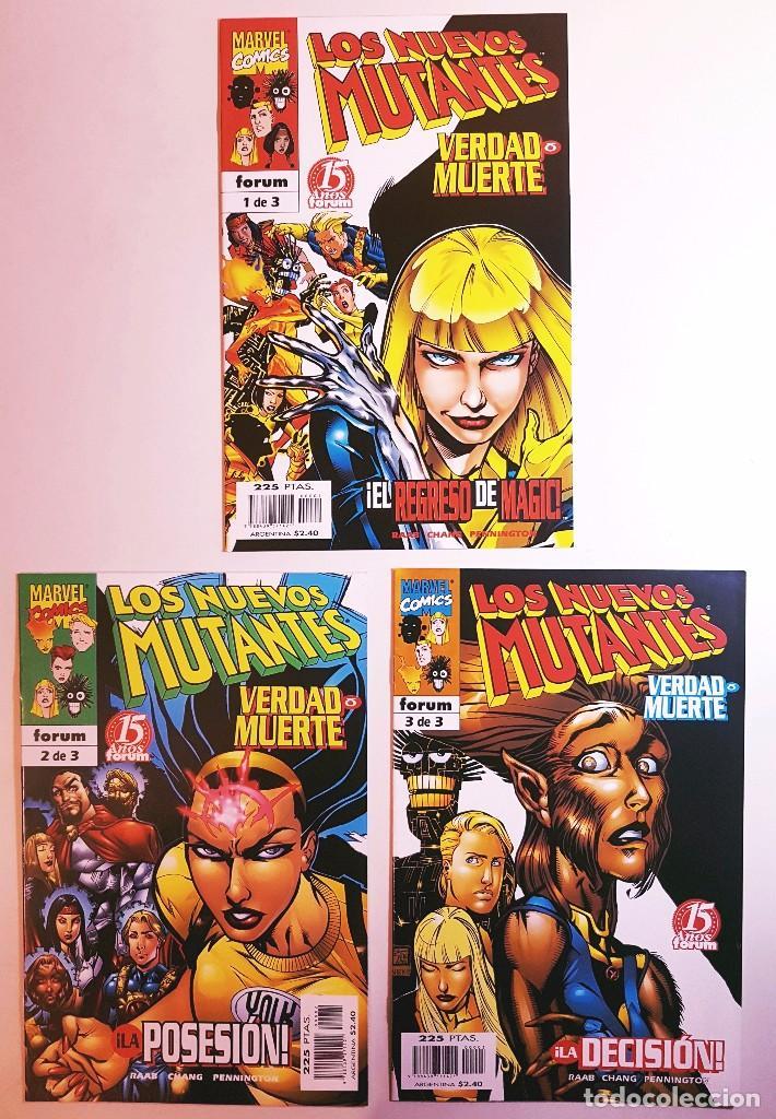 LOS NUEVOS MUTANTES - SERIE LIMITADA Nº 1,2,3 - VERDAD O MUERTE - COMPLETA (Tebeos y Comics - Forum - Nuevos Mutantes)