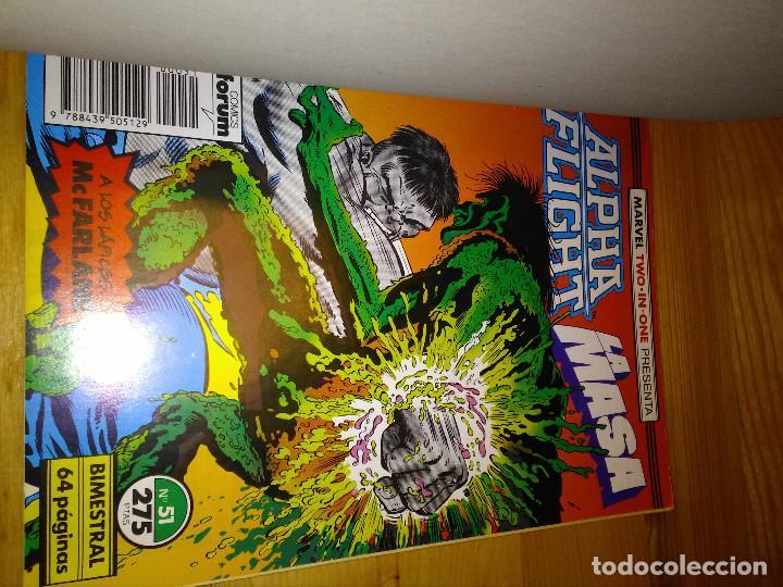 Cómics: Comic Retapado Alpha Flight + La Masa Hulk Forum Planeta 51 al 53 - Foto 2 - 105513135