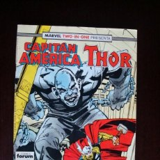 Cómics: CAPITAN AMÉRICA VOL. 1 Nº 58 MARVEL TWO-IN-ONE CON THOR (FORUM). Lote 105829039