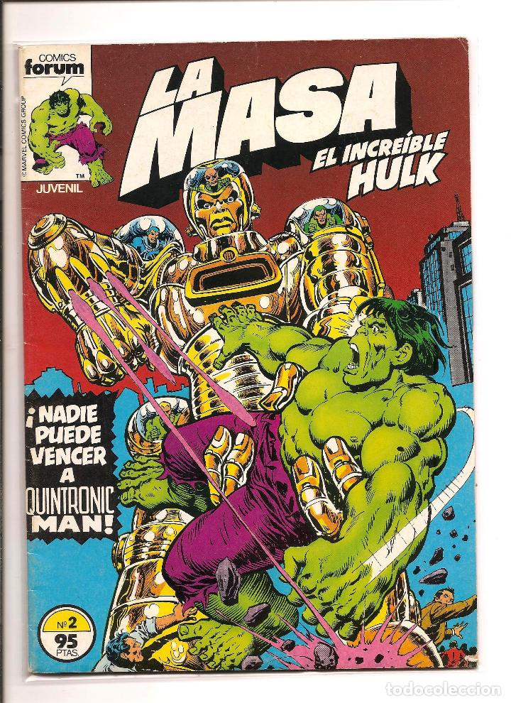 LA MASA - EL INCREIBLE HULK - COMICS FORUM - Nº 2 1983 - PERFECTO ESTADO + FUNDA PROTECCION (Tebeos y Comics - Forum - Hulk)