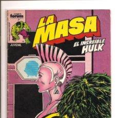 Cómics: LA MASA - EL INCREIBLE HULK - COMICS FORUM - Nº 24 - BUEN ESTADO + FUNDA PROTECCION. Lote 106165123