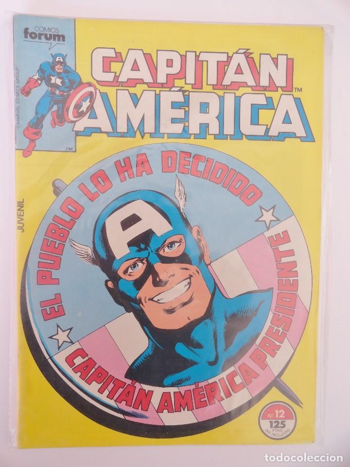 CAPITÁN AMÉRICA VOLUMEN 1 FORUM NÚMERO 12. 125 PTAS. ENERO 1986. 32 PÁG. (Tebeos y Comics - Forum - Capitán América)