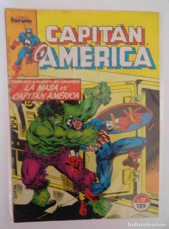 CAPITÁN AMÉRICA VOLUMEN 1 FORUM NÚMERO 17. 125 PTAS. JUNIO 1986. 32 PÁG. (Tebeos y Comics - Forum - Capitán América)