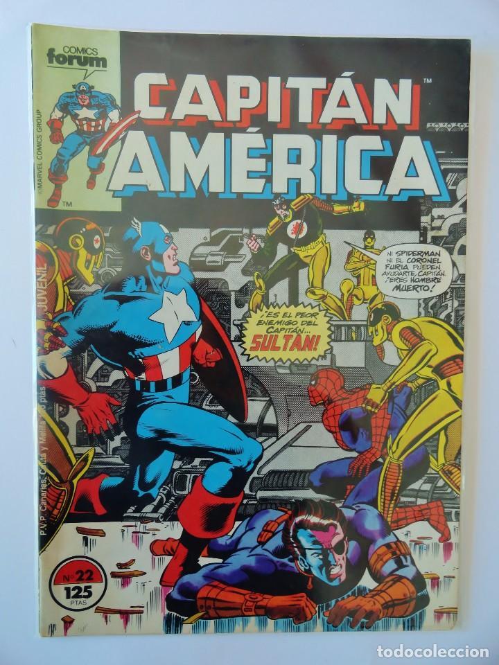 CAPITÁN AMÉRICA VOLUMEN 1 FORUM NÚMERO 22. 125 PTAS. NOVIEMBRE 1986. 32 PÁG. (Tebeos y Comics - Forum - Capitán América)