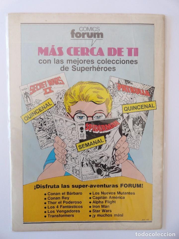 Cómics: CAPITÁN AMÉRICA VOLUMEN 1 FORUM NÚMERO 22. 125 PTAS. NOVIEMBRE 1986. 32 PÁG. - Foto 2 - 106658087