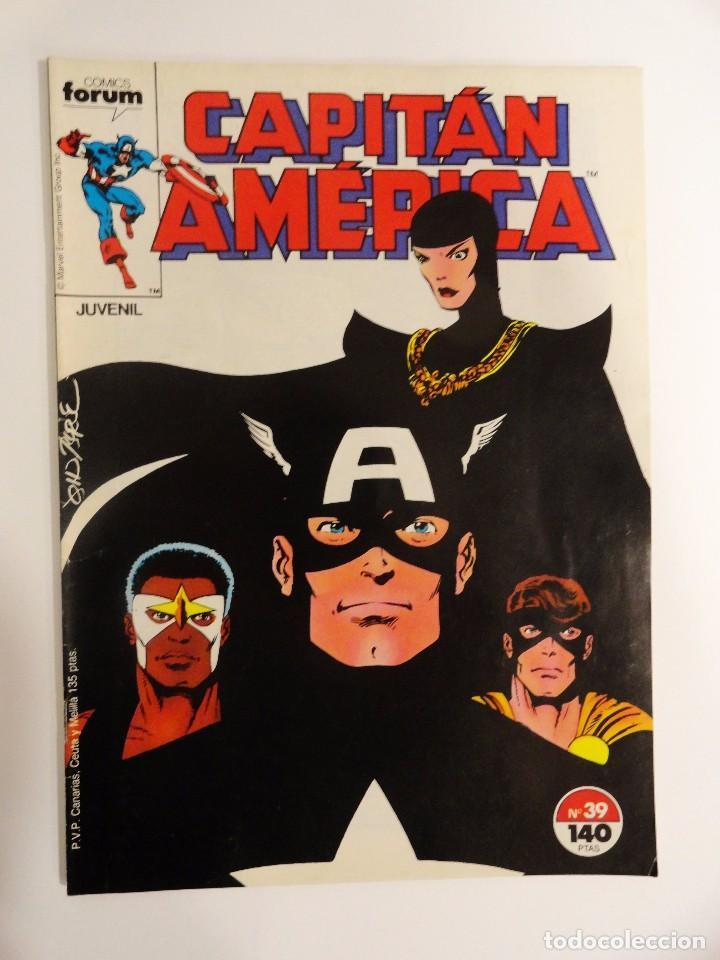 CAPITÁN AMÉRICA VOLUMEN 1 FORUM NÚMERO 39. 140 PTAS. SEPTIEMBRE 1987. 32 PÁG. (Tebeos y Comics - Forum - Capitán América)