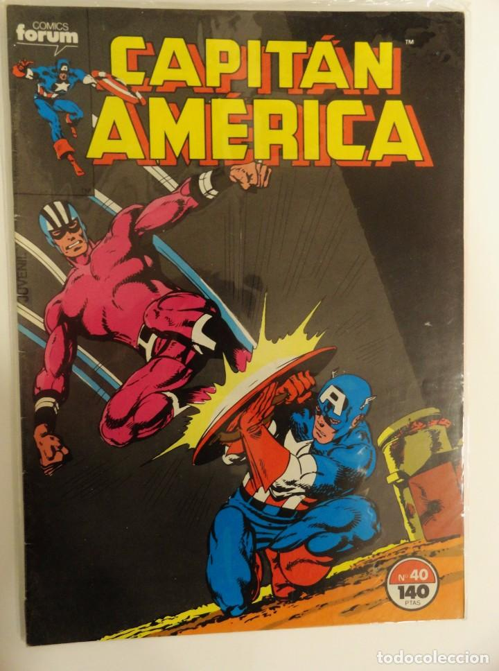 CAPITÁN AMÉRICA VOLUMEN 1 FORUM NÚMERO 40. 140 PTAS. OCTUBRE 1987. 32 PÁG. (Tebeos y Comics - Forum - Capitán América)