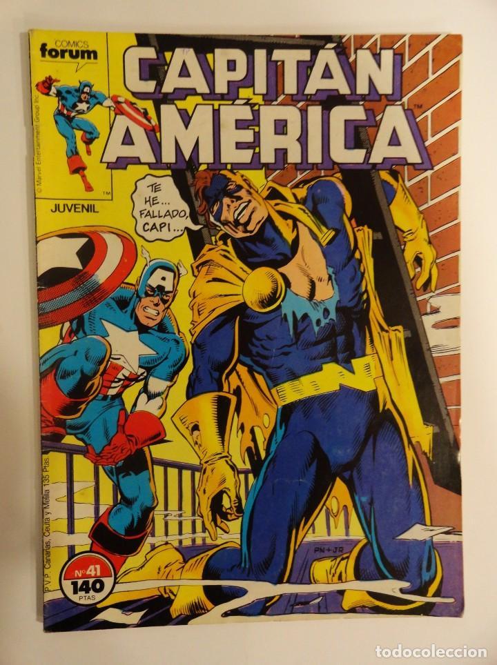 CAPITÁN AMÉRICA VOLUMEN 1 FORUM NÚMERO 41. 140 PTAS. NOVIEMBRE 1987. 32 PÁG. (Tebeos y Comics - Forum - Capitán América)