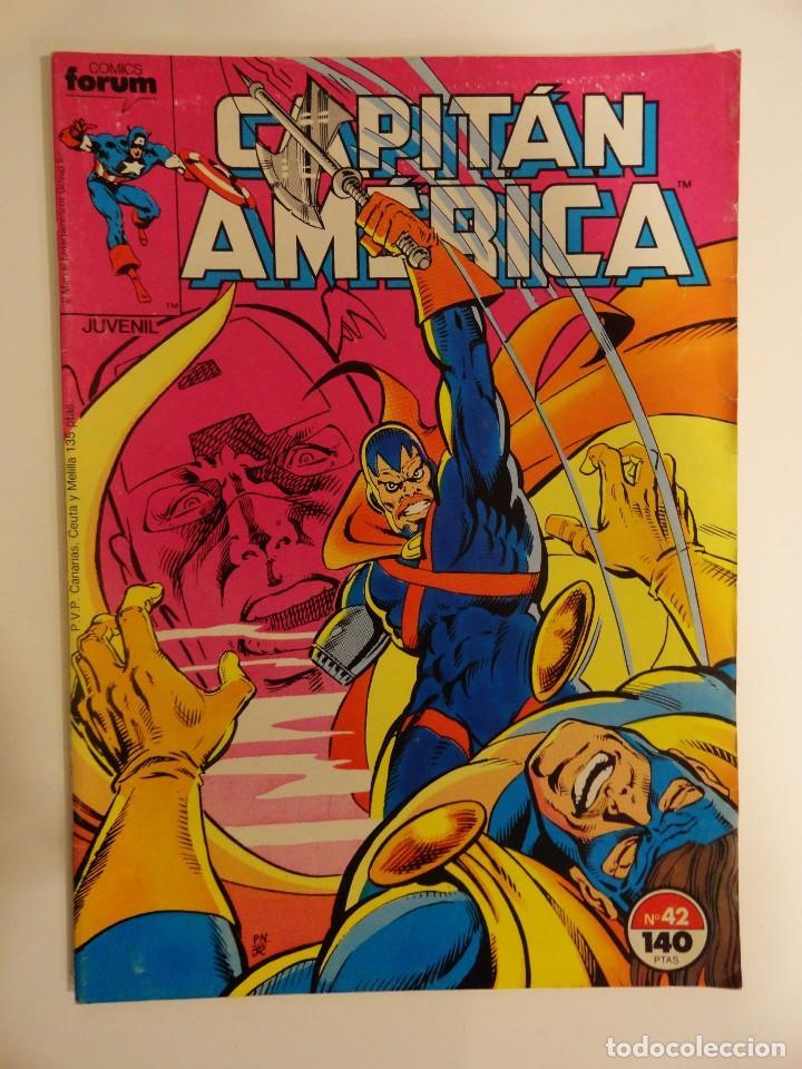 CAPITÁN AMÉRICA VOLUMEN 1 FORUM NÚMERO 42. 140 PTAS. DICIEMBRE 1987. 32 PÁG. (Tebeos y Comics - Forum - Capitán América)