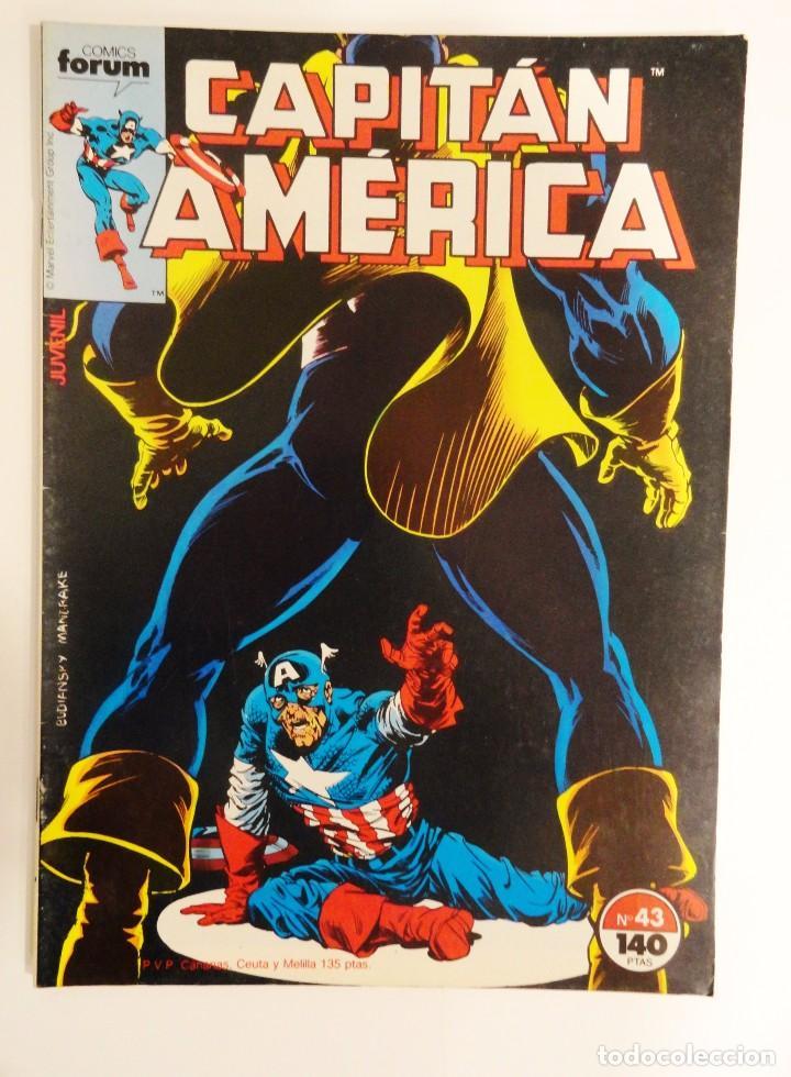 CAPITÁN AMÉRICA VOLUMEN 1 FORUM NÚMERO 43. 140 PTAS. ENERO 1988. 32 PÁG. (Tebeos y Comics - Forum - Capitán América)
