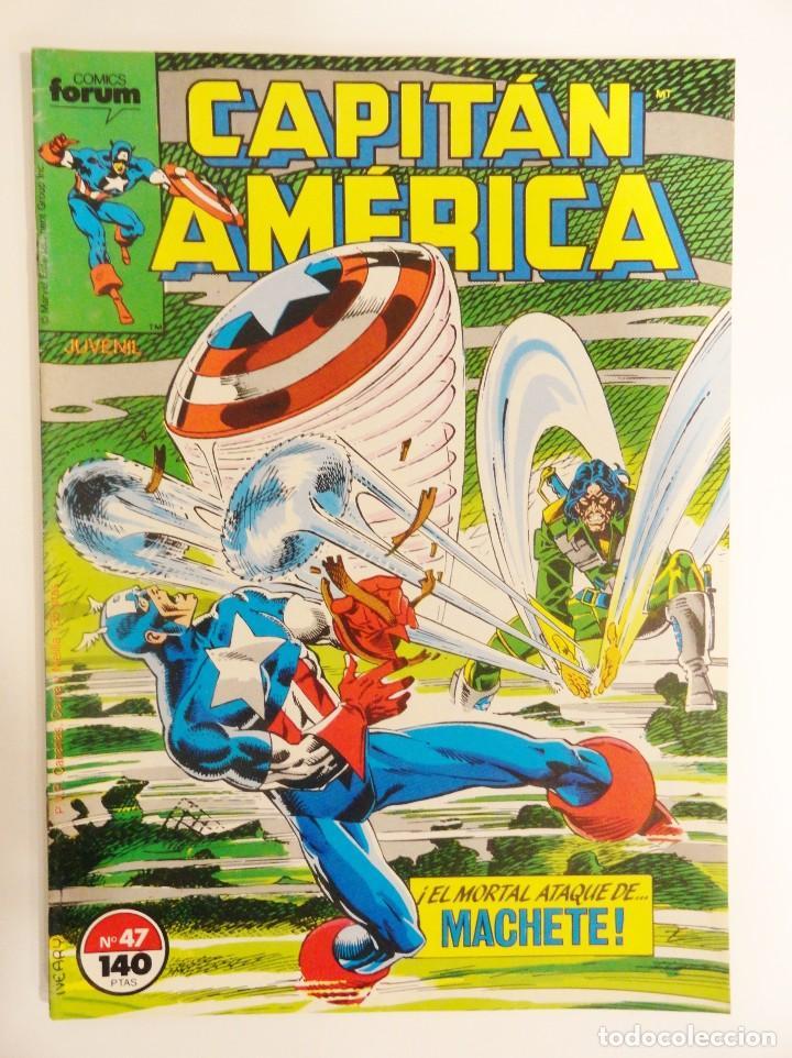 CAPITÁN AMÉRICA VOLUMEN 1 FORUM NÚMERO 47. 140 PTAS. MAYO 1988. 32 PÁG. (Tebeos y Comics - Forum - Capitán América)