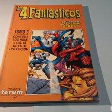Cómics: LOS 4 FANTASTICOS TOMO 3 EN BUEN ESTADO FORUM RETAPADO 11 AL 15. Lote 107085968
