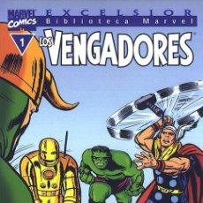 Cómics: BIBLIOTECA MARVEL LOS VENGADORES, NÚMERO 1 BM: LOS VENGADORES #1. Lote 107127239