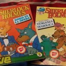 Cómics: FORUM ALEVIN SHERLOCK HOLMES ROBO EN LA OPERA N 8 Y VENGANZA DIABOLICA N 12. Lote 107837835