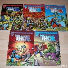Cómics: THOR. EXCELSIOR. BIBLIOTECA MARVEL. LOTE DE 5 COMICS. NÚMEROS 1,2,3,5 Y 6. 2003. COMO NUEVOS.. Lote 108013439