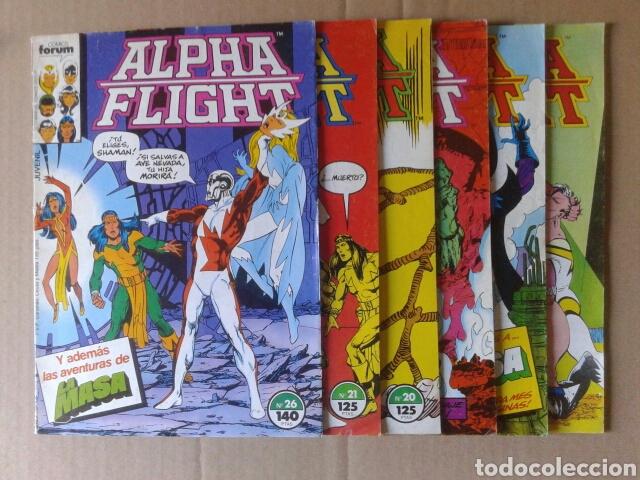 Cómics: Lote Alpha Flight. Incluye números 3-4-6-8-9-10-12-13-14-15-16-17-19-20-21-26. Por John Byrne - Foto 3 - 108784608