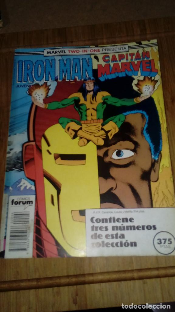 IRON MAN CAPITAN MARVEL RETAPADO CON Nº 41-42-43 MARVEL TWO IN ONE FORUM (Tebeos y Comics - Forum - Iron Man)