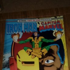 Cómics: IRON MAN CAPITAN MARVEL RETAPADO CON Nº 41-42-43 MARVEL TWO IN ONE FORUM. Lote 108811007