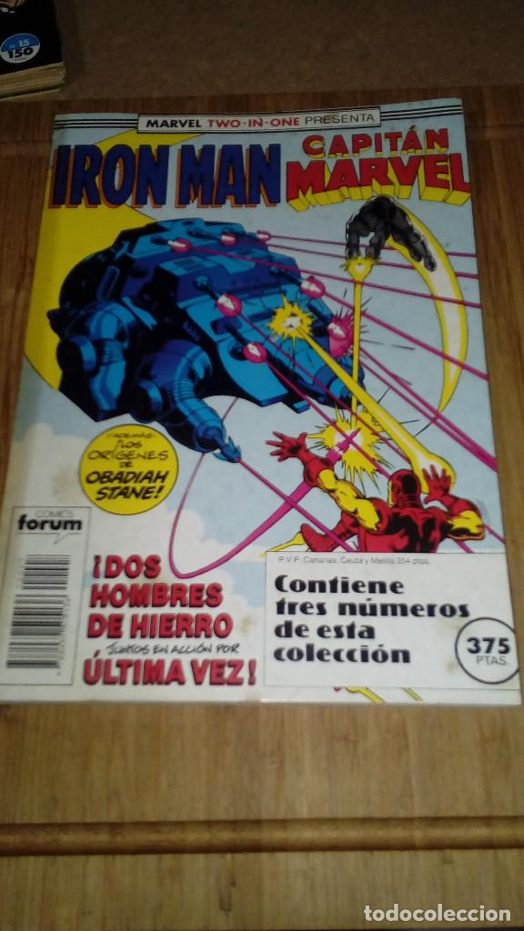 IRON MAN CAPITAN MARVEL RETAPADO CON Nº 44-45-46 MARVEL TWO IN ONE FORUM (Tebeos y Comics - Forum - Iron Man)
