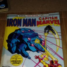 Cómics: IRON MAN CAPITAN MARVEL RETAPADO CON Nº 44-45-46 MARVEL TWO IN ONE FORUM. Lote 108811235