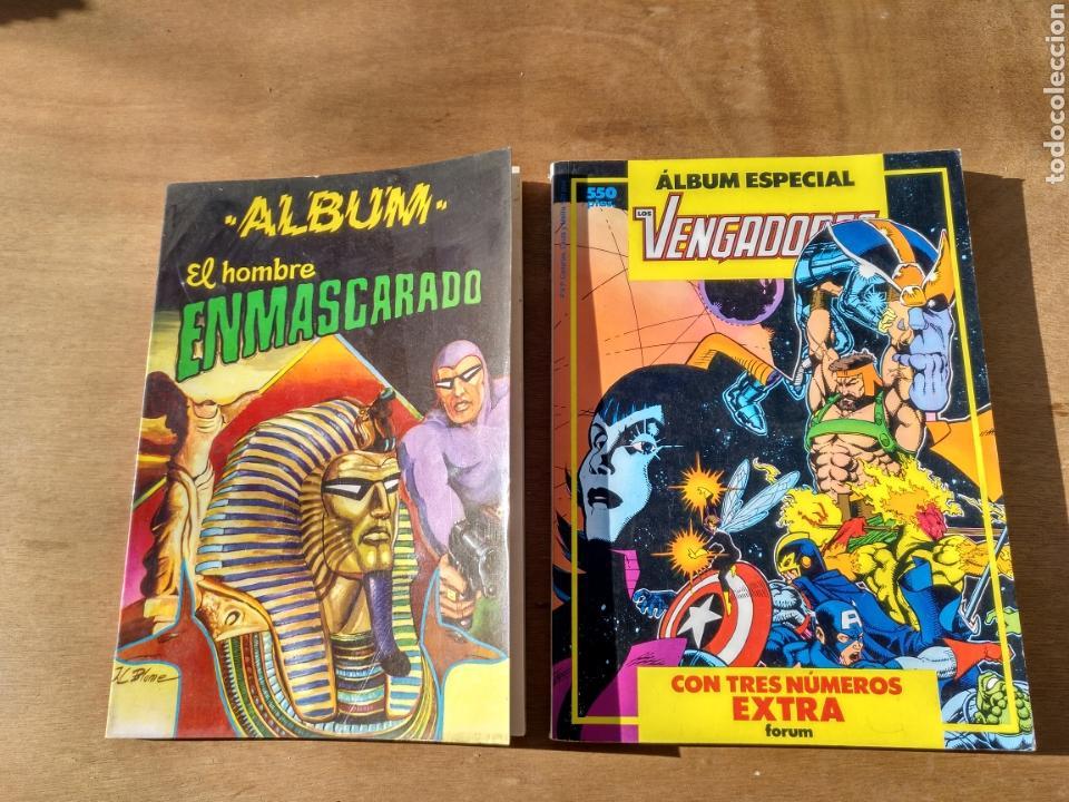 DOS ÁLBUMES EL HOMBRE ENMASCARADO Y LOS VENGADORES. DEFECTOS PROPIOS DEL TIEMPO (Tebeos y Comics - Forum - Vengadores)