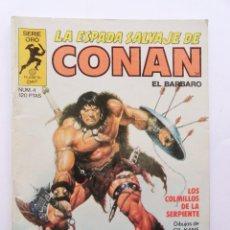 Cómics: LA ESPADA SALVAJE DE CONAN 1ª EDICIÓN SERIE ORO NÚMERO 4. LOS COLMILLOS DE LA SERPIENTE. 1982. Lote 109074851