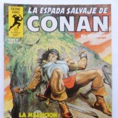 Cómics: LA ESPADA SALVAJE DE CONAN 1ª EDICIÓN SERIE ORO NÚMERO 6. LA MALDICIÓN DEL MONOLITO. 1982. Lote 109076315
