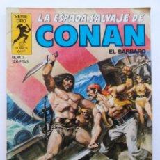 Cómics: LA ESPADA SALVAJE DE CONAN 1ª EDICIÓN SERIE ORO NÚMERO 7. EL TEMPLO DE LA COSA DE DOCE OJOS. 1982. Lote 109077151
