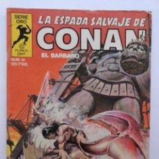 Cómics: LA ESPADA SALVAJE DE CONAN 1ª EDICIÓN SERIE ORO NÚMERO 14. EL COLOSO DE ARGOS. 1983. Lote 109292215