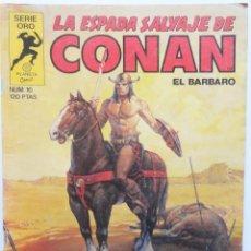 Cómics: LA ESPADA SALVAJE DE CONAN 1ª EDICIÓN SERIE ORO NÚMERO 16. EL REINO DEL MURCIÉLAGO. 1983. Lote 109385835