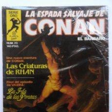 Cómics: LA ESPADA SALVAJE DE CONAN 1ª EDICIÓN SERIE ORO NÚMERO 20. LAS CRIATURAS DE RHAN. 1983. Lote 109387935