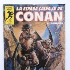 Cómics: LA ESPADA SALVAJE DE CONAN 1ª EDICIÓN SERIE ORO NÚMERO 24. LOS HABITANTES DE LAS CAVERNAS. 1984. Lote 109399327