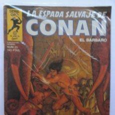 Cómics: LA ESPADA SALVAJE DE CONAN 1ª EDICIÓN SERIE ORO NÚMERO 25. LA ISLA DEL CAZADOR. 1984. Lote 109399963