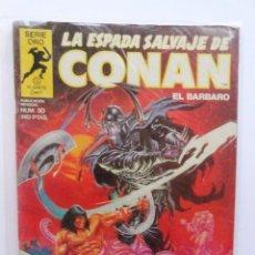 Cómics: LA ESPADA SALVAJE DE CONAN 1ª EDICIÓN SERIE ORO NÚMERO 30. EL SIMIO-MURCIÉLAGO DEL LAGO MARMET. 1984. Lote 109401007