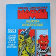 Cómics: HULK& FACTOR X + DESTRUCTOR NOCTURNO COMPLETASEN UN TOMO RETAPADO. Lote 109449531