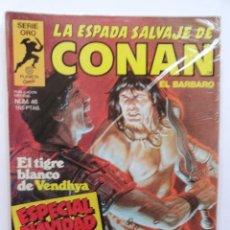 Cómics: LA ESPADA SALVAJE DE CONAN 1ª EDICIÓN SERIE ORO NÚM 46. EL TIGRE BLANCO DE VENDHYA. ESP NAV 1985. Lote 109452371