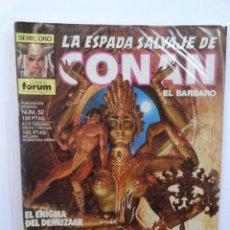 Cómics: LA ESPADA SALVAJE DE CONAN 1ª EDICIÓN SERIE ORO NÚM 52. EL ENIGMA DEL DEMUZAAR. 1986. Lote 109453195