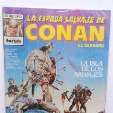 Cómics: LA ESPADA SALVAJE DE CONAN 1ª EDICIÓN SERIE ORO NÚM 53. LA ISLA DE LOS SALVAJES. 1986. Lote 109453355