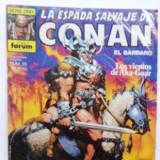 Cómics: LA ESPADA SALVAJE DE CONAN 1ª EDICIÓN SERIE ORO NÚM 55. LOS VIENTOS DE AKA-GAAR. 1986. Lote 109453527