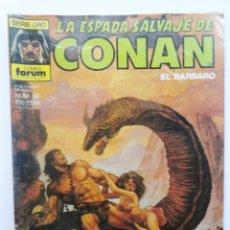 Cómics: LA ESPADA SALVAJE DE CONAN 1ª EDICIÓN SERIE ORO NÚM 63. EN EL ALTAR DEL DIOS CARNERO. 1987. Lote 109455727