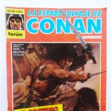 Cómics: LA ESPADA SALVAJE DE CONAN 1ª EDICIÓN SERIE ORO NÚM 71. EL INVIERNO DEL LOBO. 1988. Lote 109471483