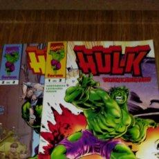 Cómics: HULK DESENCADENADO Nº 1 Y 2.COMPLETA. Lote 110108467