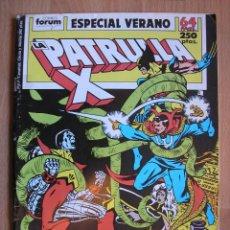 Cómics: LA PATRULLA X ESPECIAL VERANO 1989 FORUM - POSIBILIDAD DE ENTREGA EN MANO EN MADRID. Lote 110189723