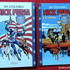 Cómics: NICK FURIA AGENTE DE SHIELD Y ESCORPIO FORUM JIM STERANKO 2 TOMOS. Lote 110299663