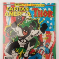 Cómics: MARVEL TWO-IN-ONE PRESENTA: CAPITÁN AMÉRICA & THOR VOL 1 FORUM NÚM. 54. 1989. Lote 110496831