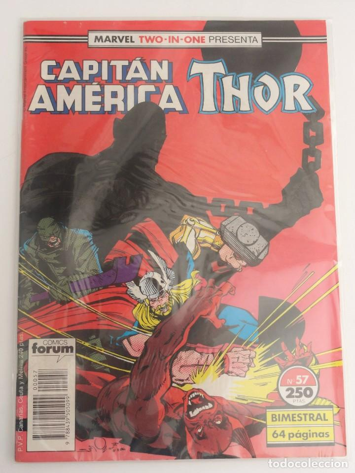 MARVEL TWO-IN-ONE PRESENTA: CAPITÁN AMÉRICA & THOR VOL 1 FORUM NÚM. 57. 1989 (Tebeos y Comics - Forum - Capitán América)