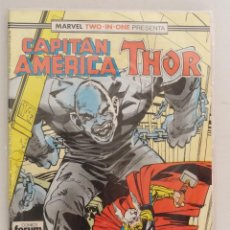 Cómics: MARVEL TWO-IN-ONE PRESENTA: CAPITÁN AMÉRICA & THOR VOL 1 FORUM NÚM. 58. 1989. Lote 110586655