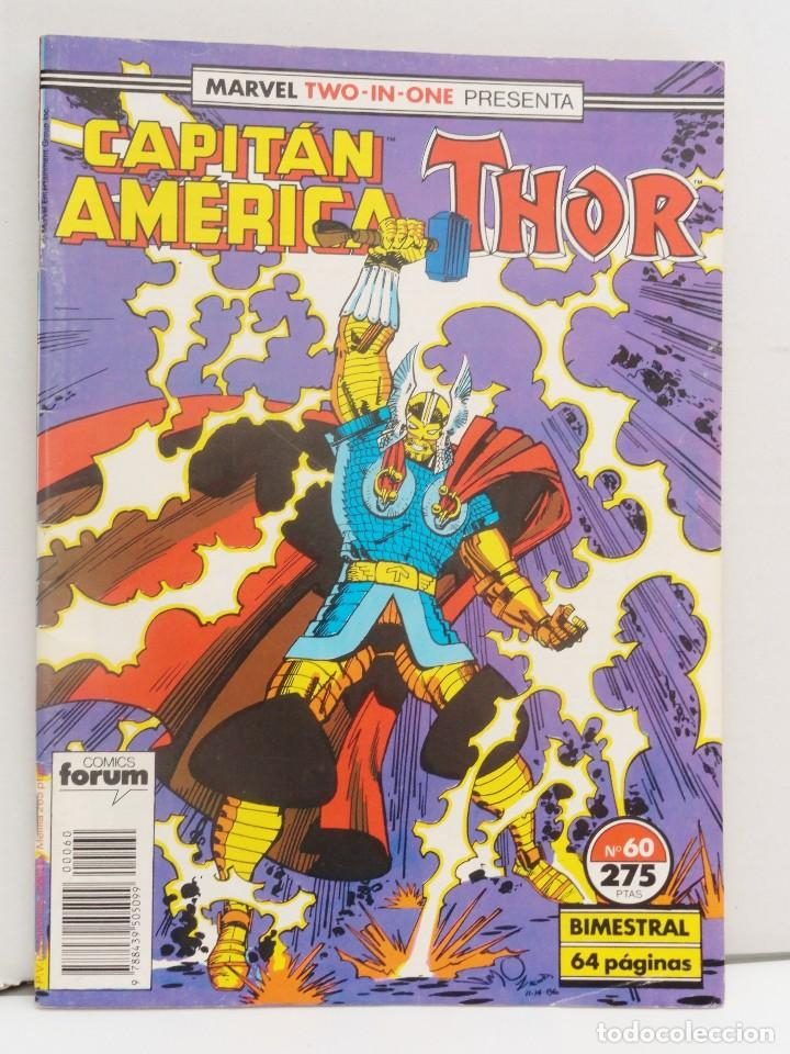 MARVEL TWO-IN-ONE PRESENTA: CAPITÁN AMÉRICA & THOR VOL 1 FORUM NÚM. 60. 1990. (Tebeos y Comics - Forum - Capitán América)