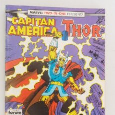Cómics: MARVEL TWO-IN-ONE PRESENTA: CAPITÁN AMÉRICA & THOR VOL 1 FORUM NÚM. 60. 1990.. Lote 110587459